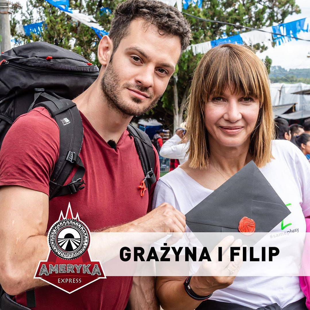 Grażyna Wolszczak i Filip Sikora – Ameryka Express