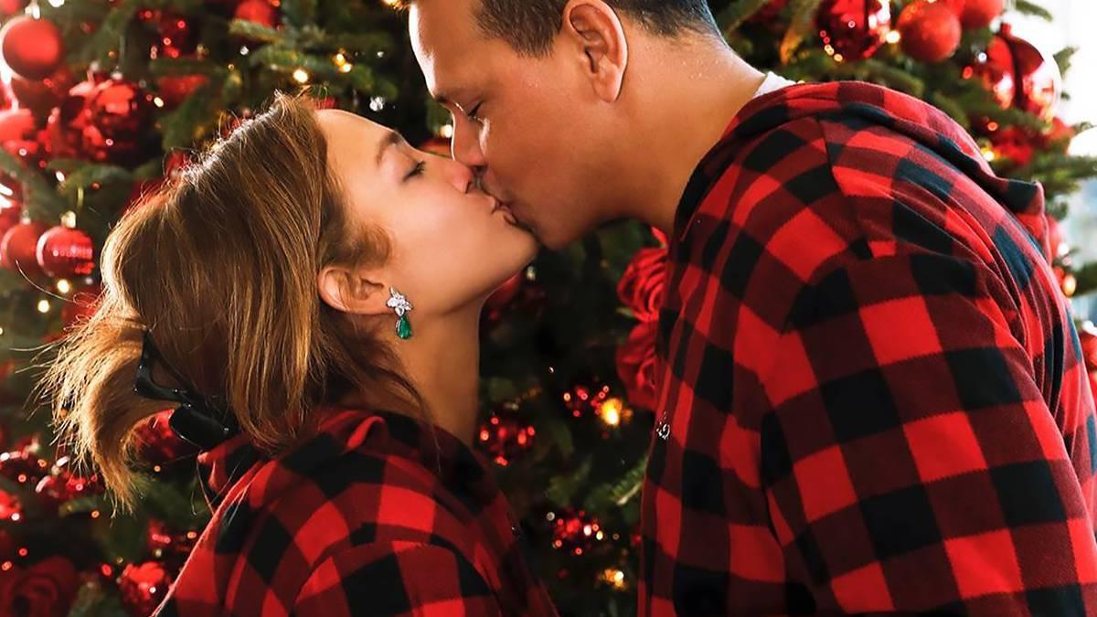 Jennifer Lopez i Alex Rodriguez w sesji świątecznej