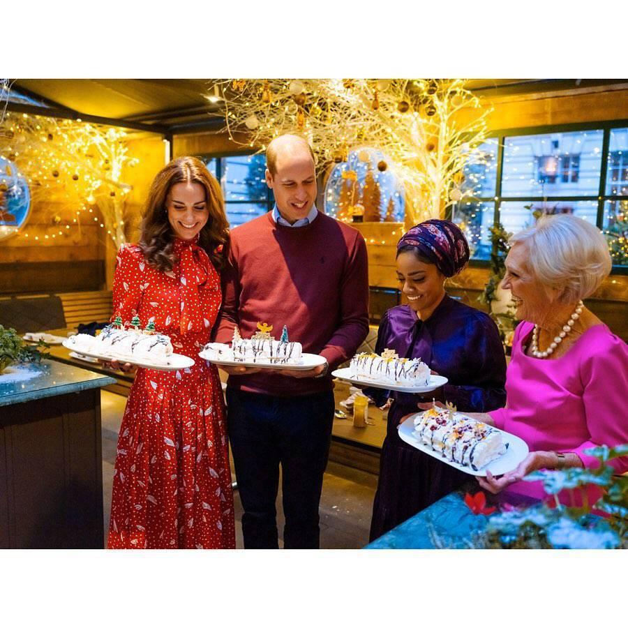 Księżna Kate i książę William - świąteczny nastrój