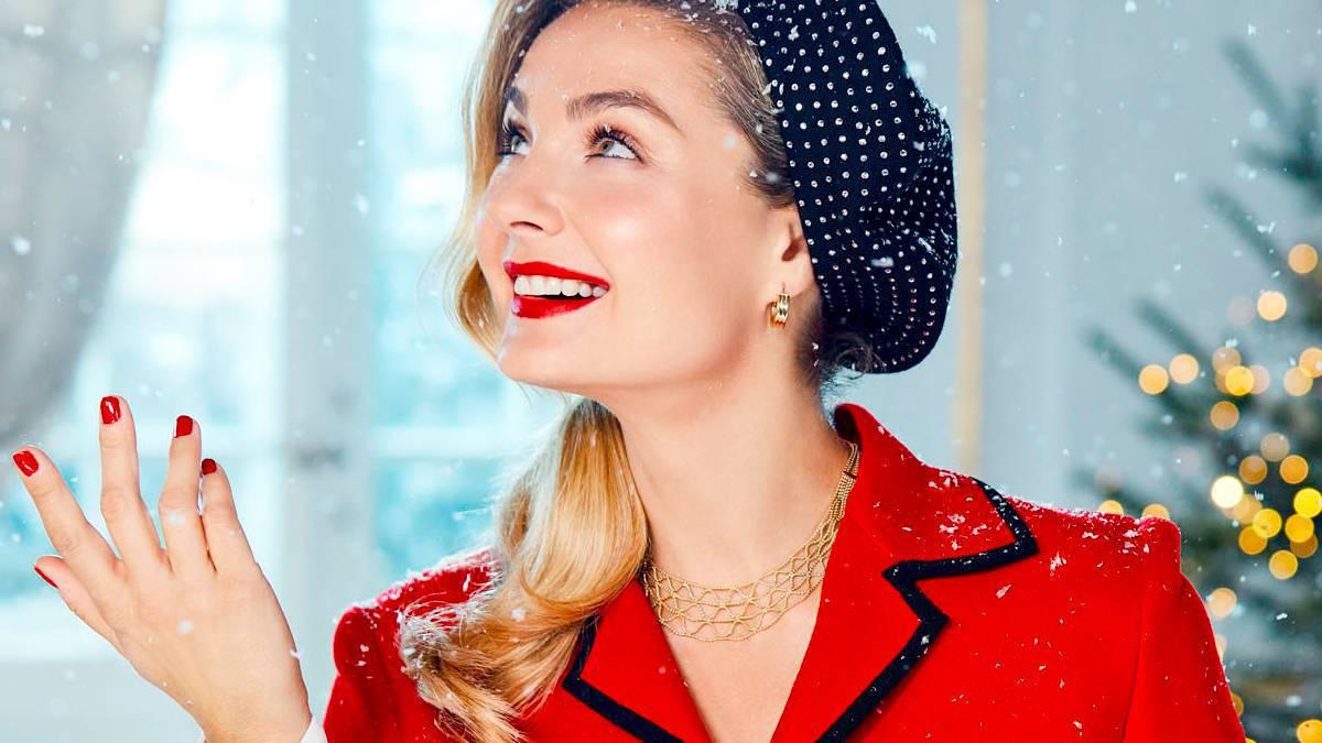Małgorzata Socha, świąteczna sesja