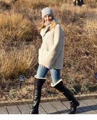 Małgorzata Socha spacer po Chicago