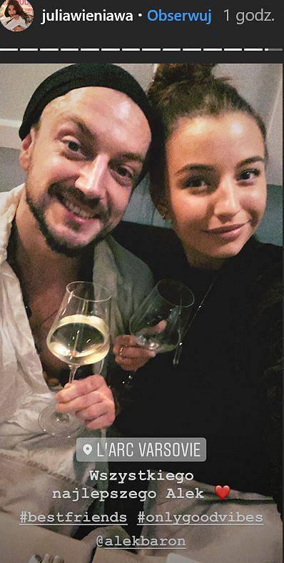 Julia Wieniawa złożyła życzenia urodzinowe Baronowi