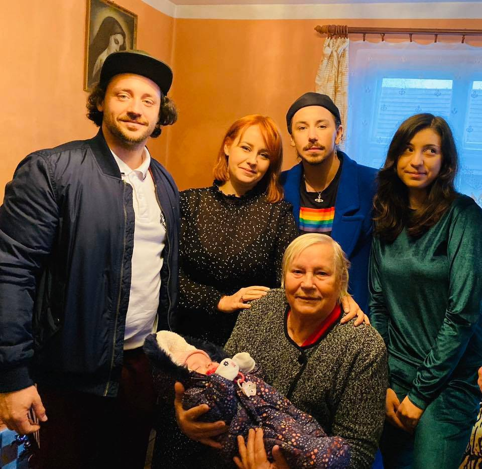 Michał Szpak z rodziną