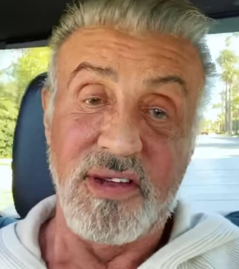 Sylvester Stallone w siwych włosach