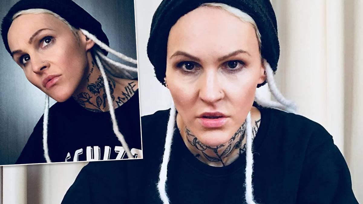 Agnieszka Chylińska - tatuaż na twarzy