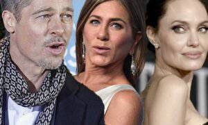 Brad Pitt, Jennifer Aniston i Angelina Jolie
