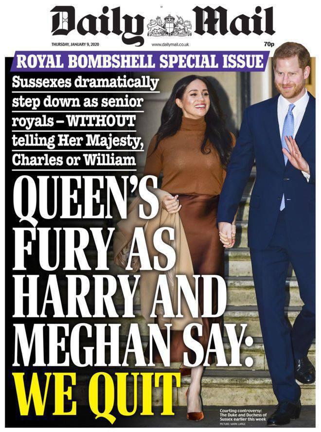 Meghan Markle i książę Harry na okładce Daily Mail