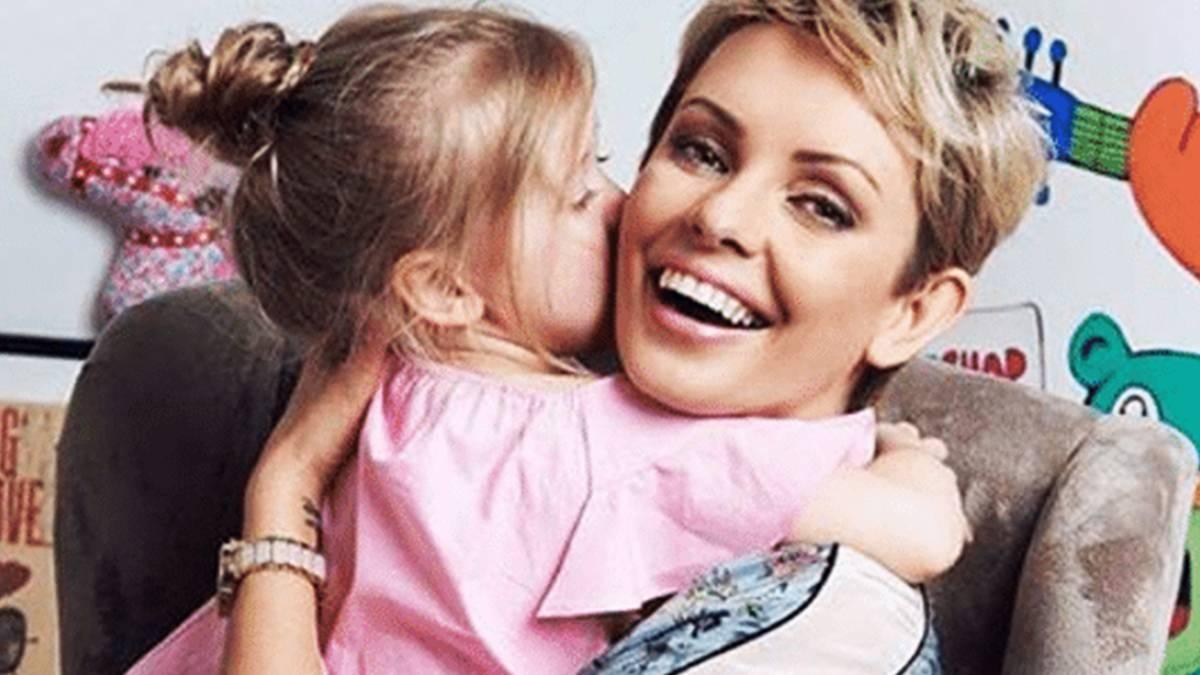 Dorota Gardias z córeczką