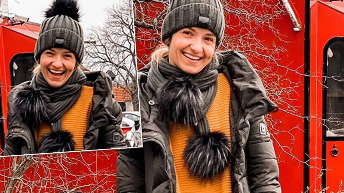 Joanna Koroniewska w spodniach z Reserved