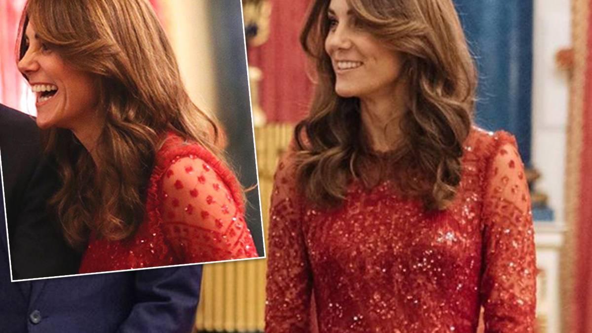 Kate Midleton w czerwonej sukience