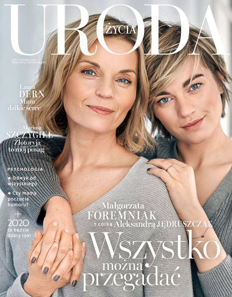 Aleksandra Jędruszczak i Małgorzata Foremniak w magazynie Uroda życia