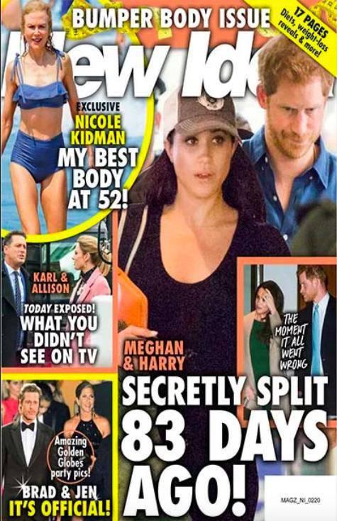 New Idea donosi o rozstaniu Meghan i Harry'ego