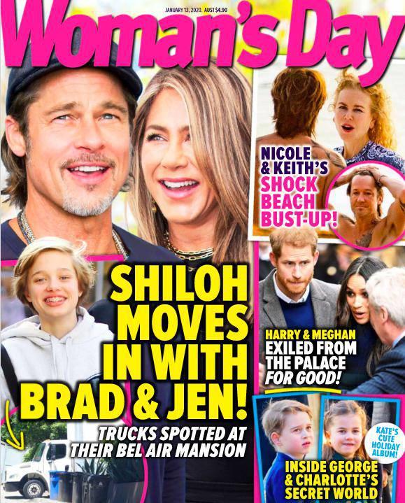 Woman's Day: Shiloh Jolie-Pitt wprowadza się do Brada Pitta i Jennifer Aniston