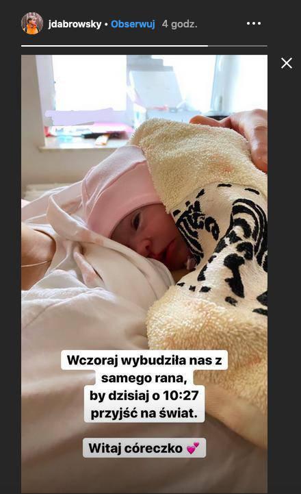 Zdjęcie (1) Sylwia Przybysz i Jan Dąbrowski zostali rodzicami! Para zdradziła płeć i imię dziecka