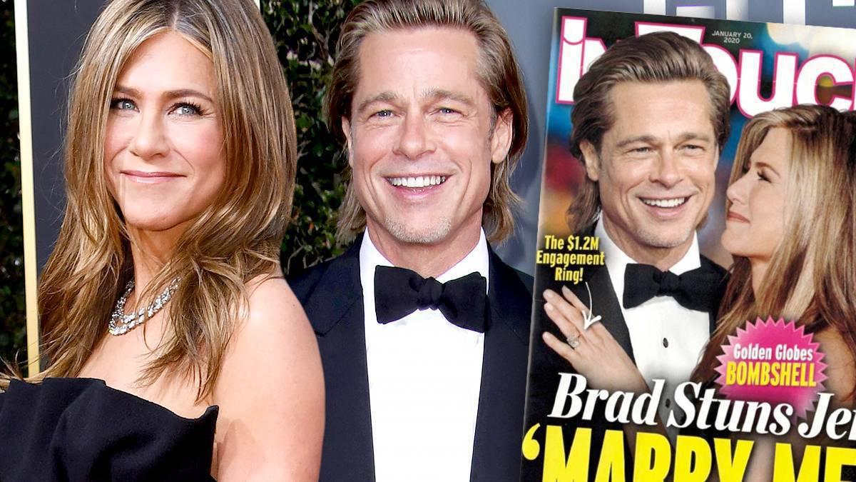 Jennifer Aniston i Brad Pitt zaręczyli się na Złotych Globach 2020?