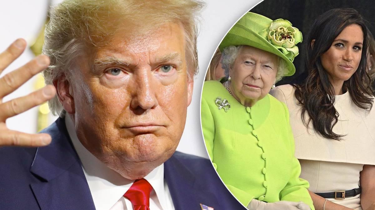 Donald Trump, Meghan Markle i królowa Elżbieta II