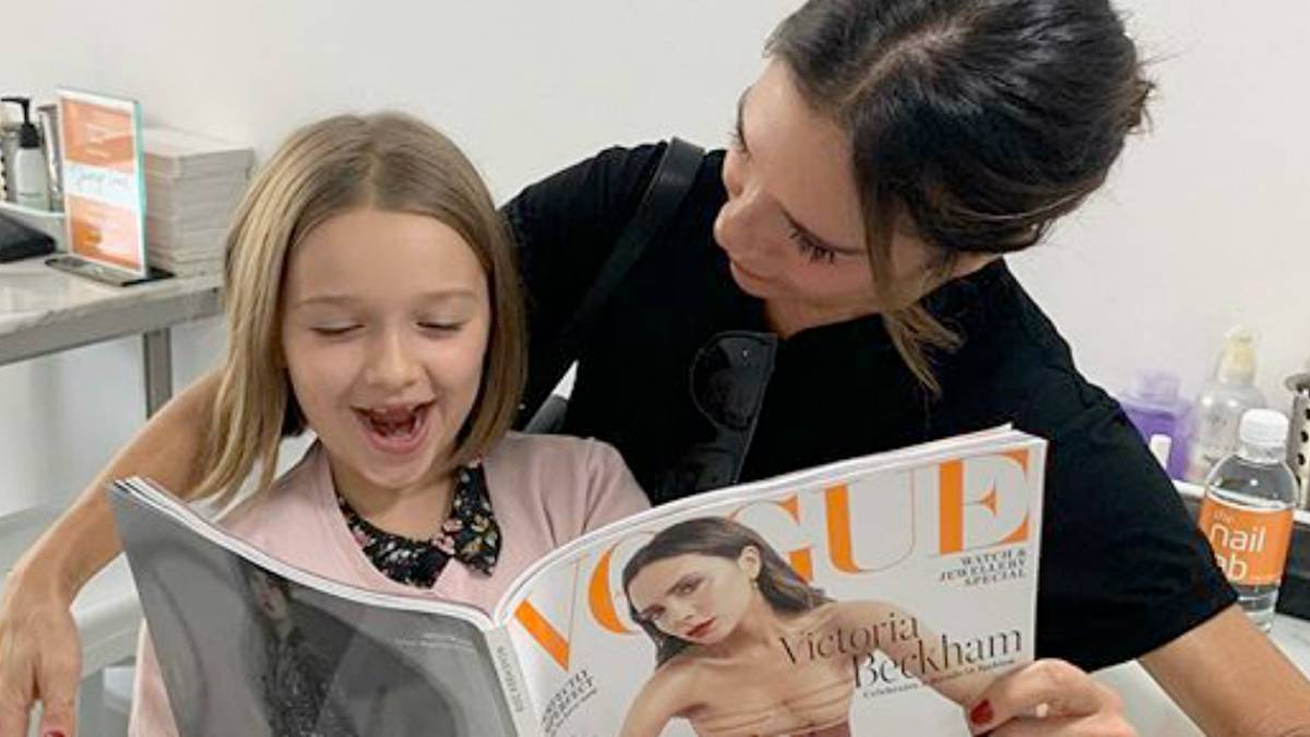 Victoria Beckham z córką Harper