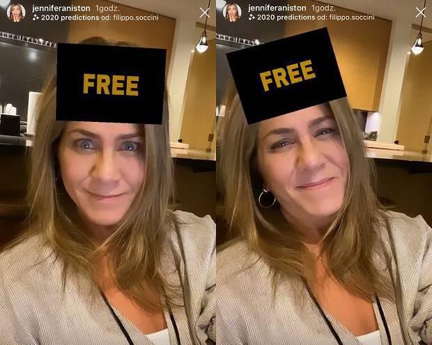 Jennifer Aniston - przepowiednia na Instagramie