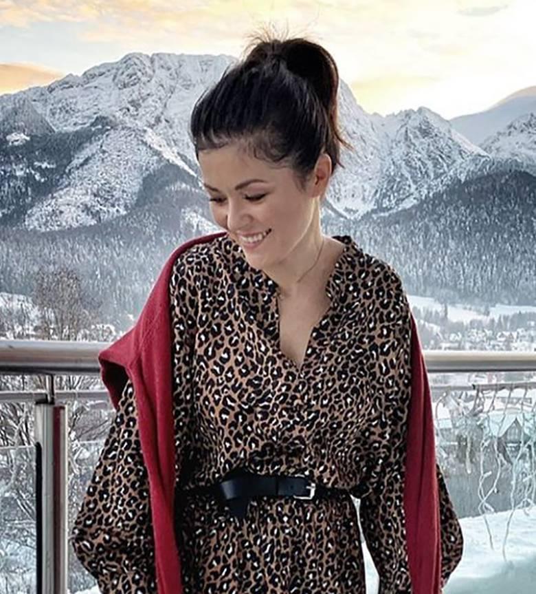 Katarzyna Cichopek w sukience w panterkę