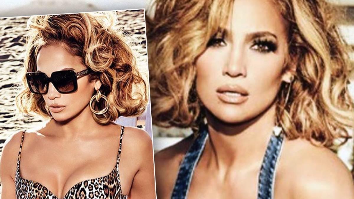 Jennifer Lopez w bikini w i nowej fryzurze