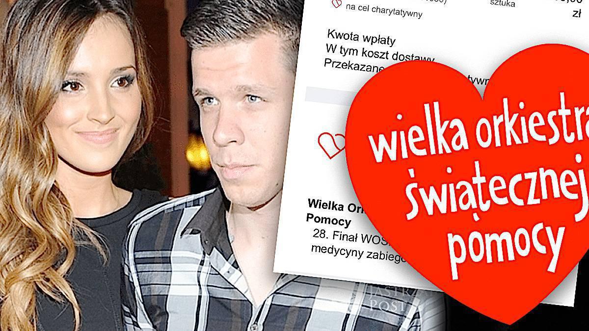 Ile Marina i Wojciech Szczęsny wpłacili na WOŚP?