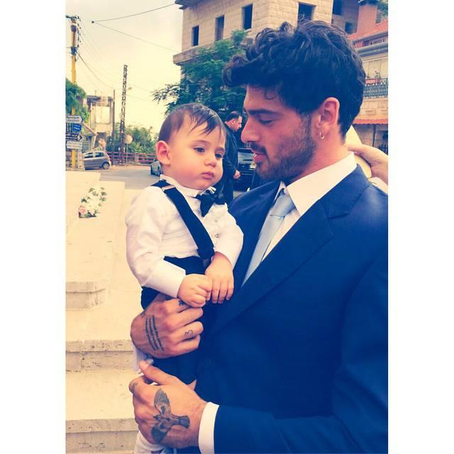 Michele Morrone z synem