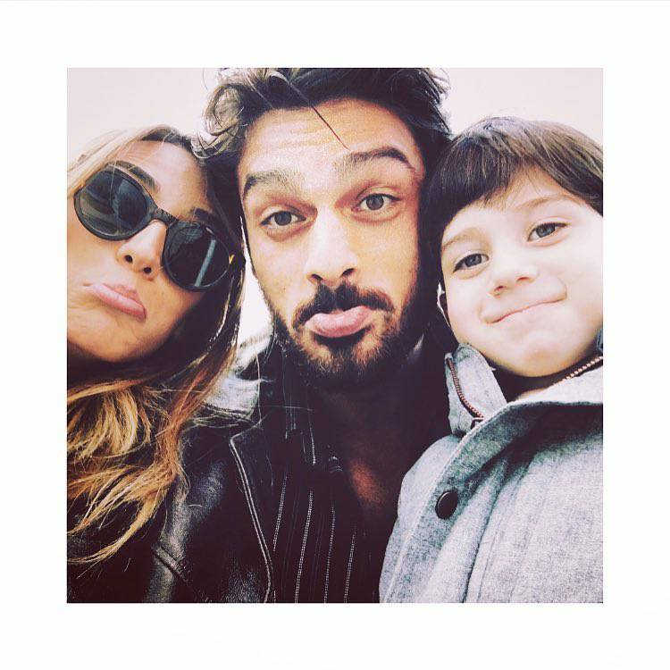 Michele Morrone z żoną i synem