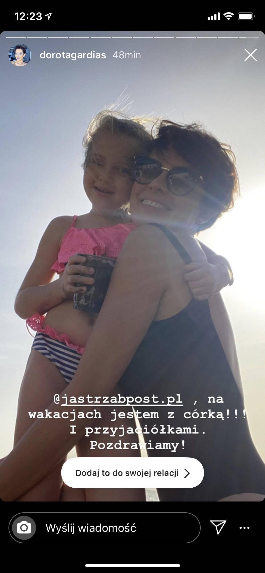 Dorota Gardias na wakacjach z córeczką