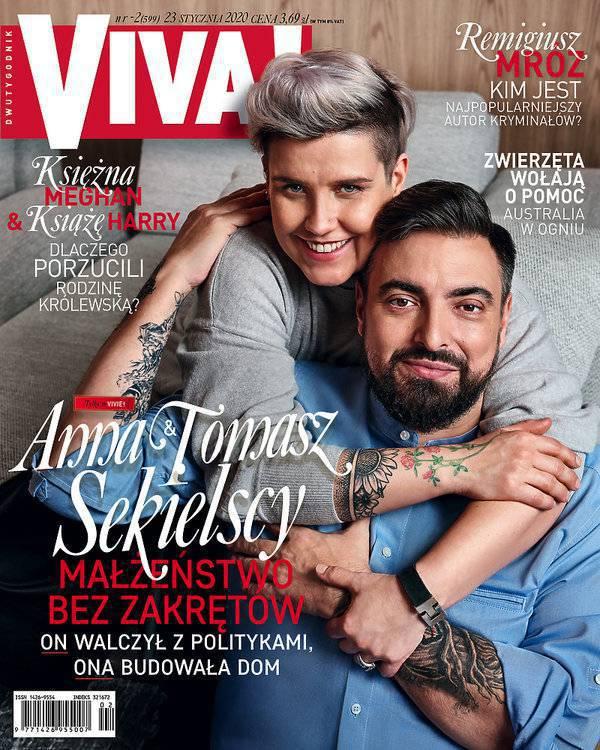 Viva: Tomasz Sekielski z żoną na okładce