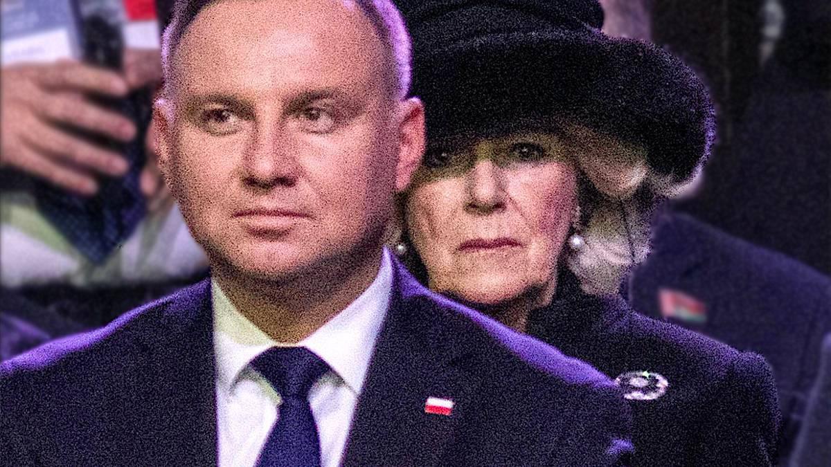Andrzej Duda i Camilla Parker-Bowles