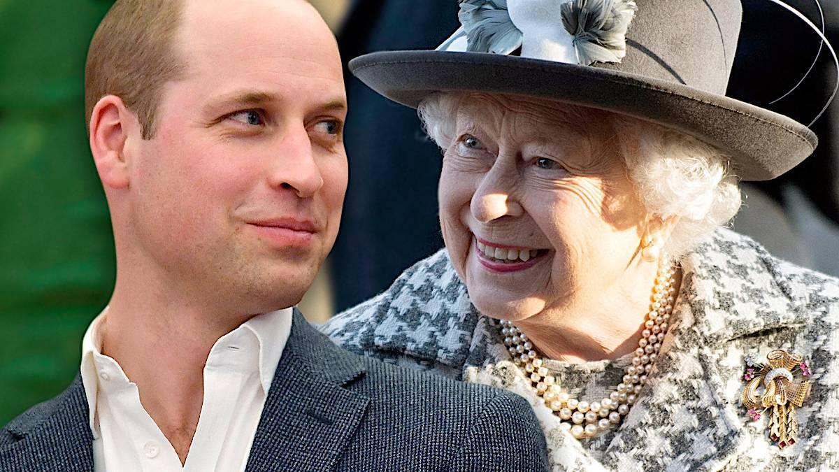 Książę William i królowa Elżbieta II