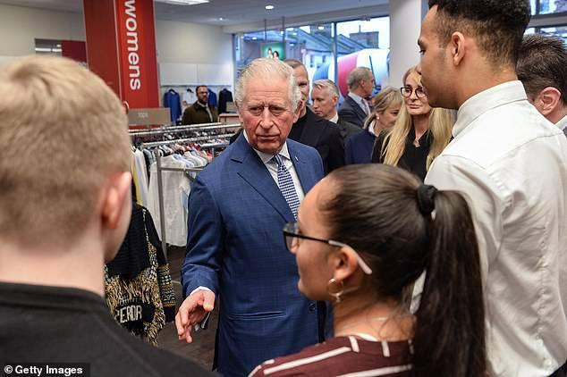 Książę Karol na spotkaniu z pracownikami TK MAXX