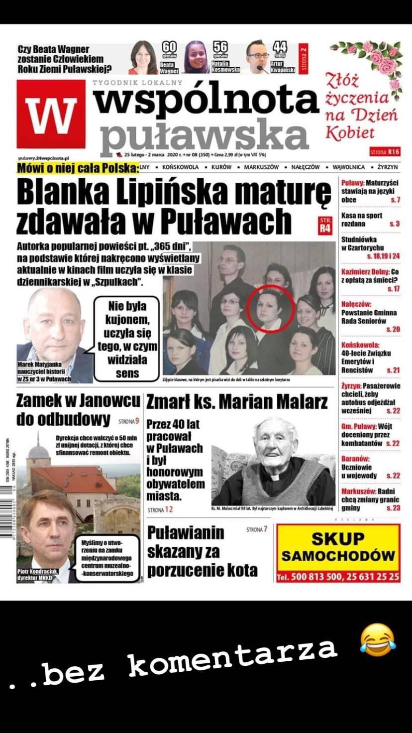 Blanka Lipińska - jak wyglądała w liceum?