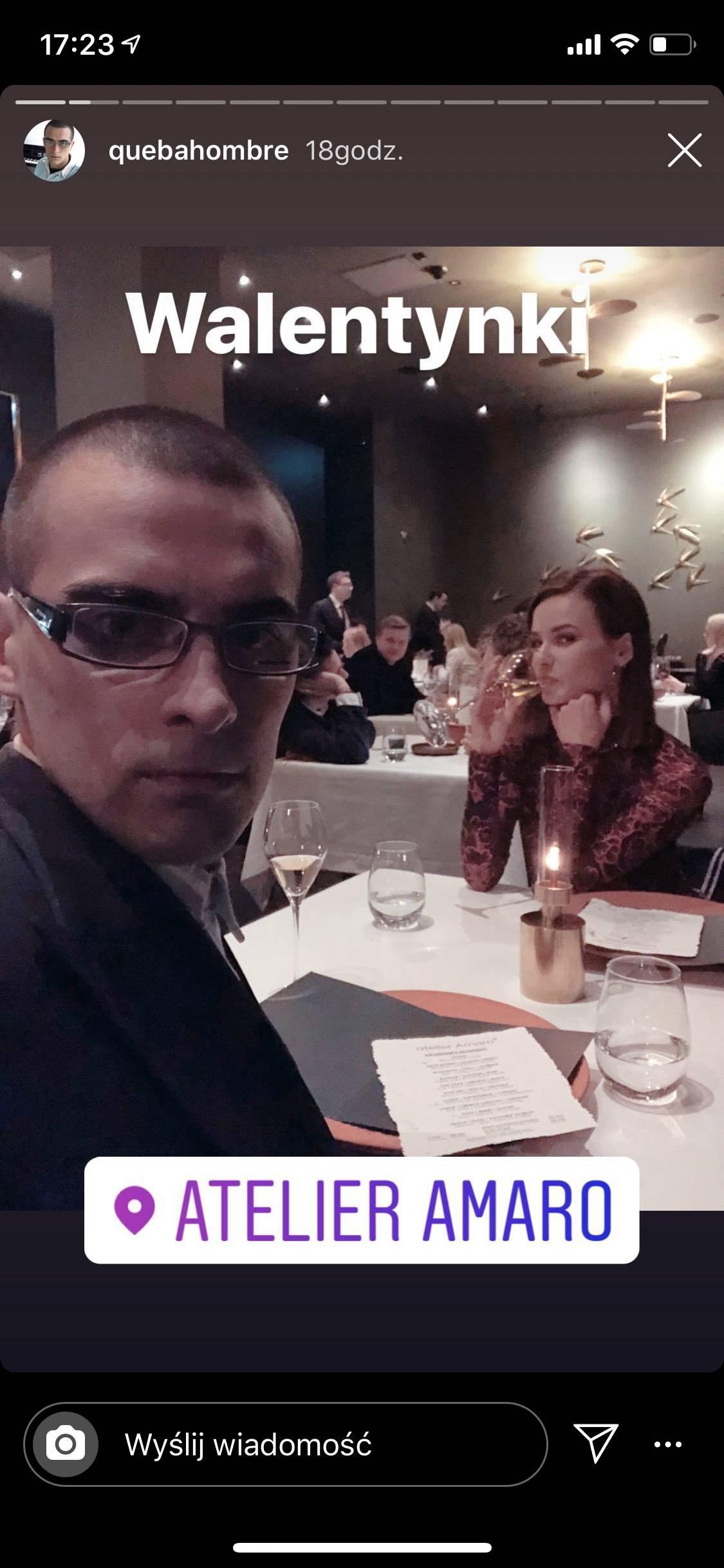 Quebonafide i Natalia Szroeder na romantycznej kolacji