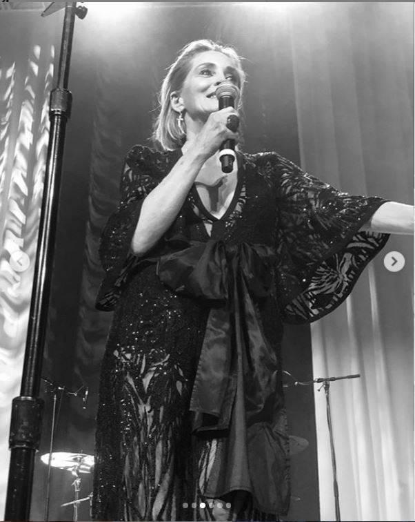 Magdalena Malicka u Eltona Johna na afterparty po Oscarach
