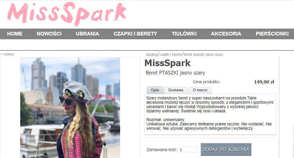 Małgorzata Rozenek - skąd kupiła beret?