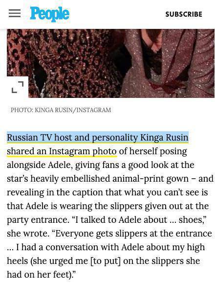 Magazyn People źle podpisał Kingę Rusin