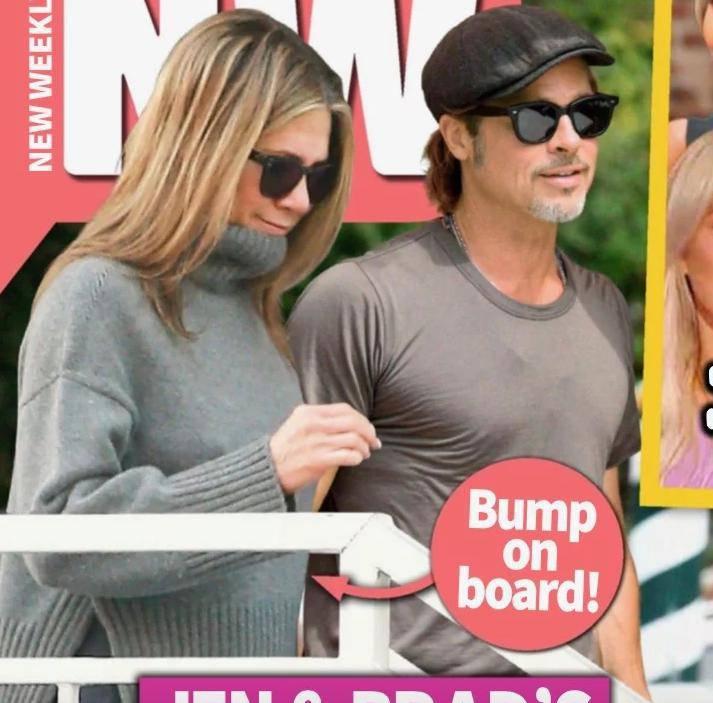 Jennifer Aniston i Brad Pitt na okładce New Weekly