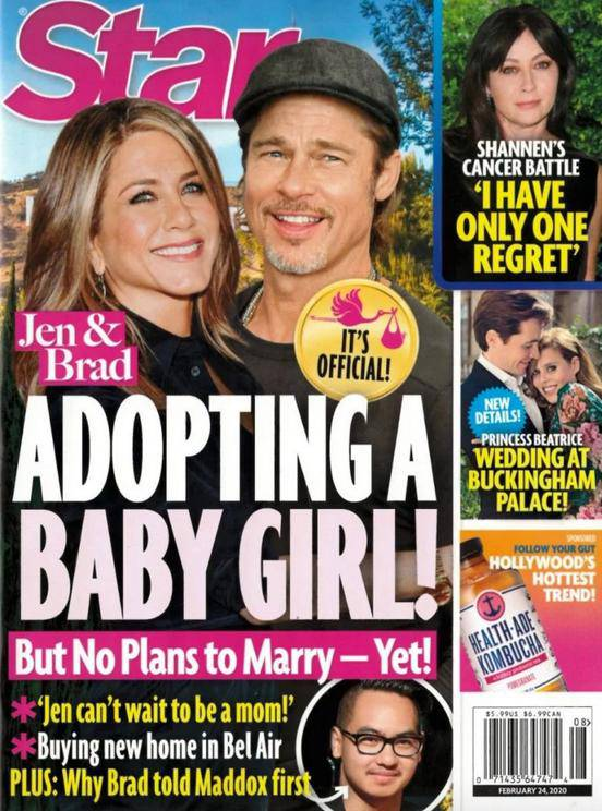 Jennifer Aniston i Brad Pitt adoptują dziewczynkę?