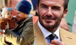 David Beckham i książę Harry
