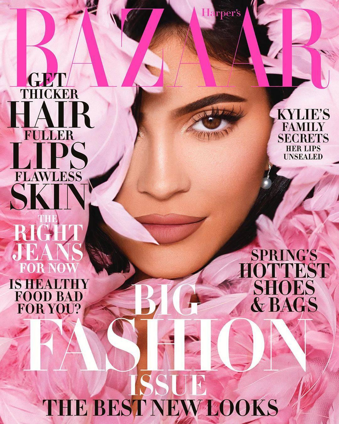 Kylie Jenner na okładce amerykańskiego Harpers Bazaar, Instagram