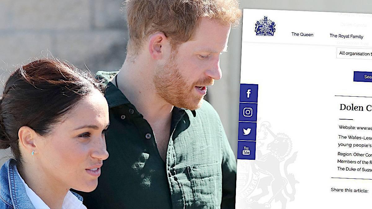 Książę Harry i Meghan Markle – wpadka na stronie