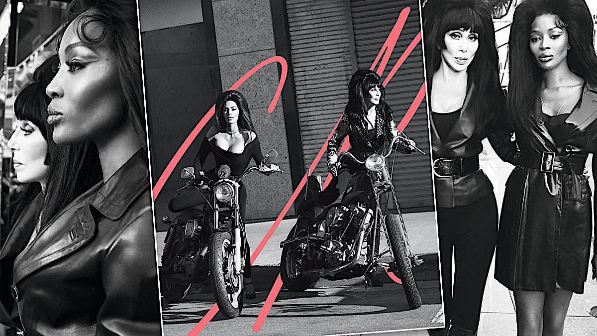 Cher, Kim Kardashian i Noami Campbell we wspólnej sesji