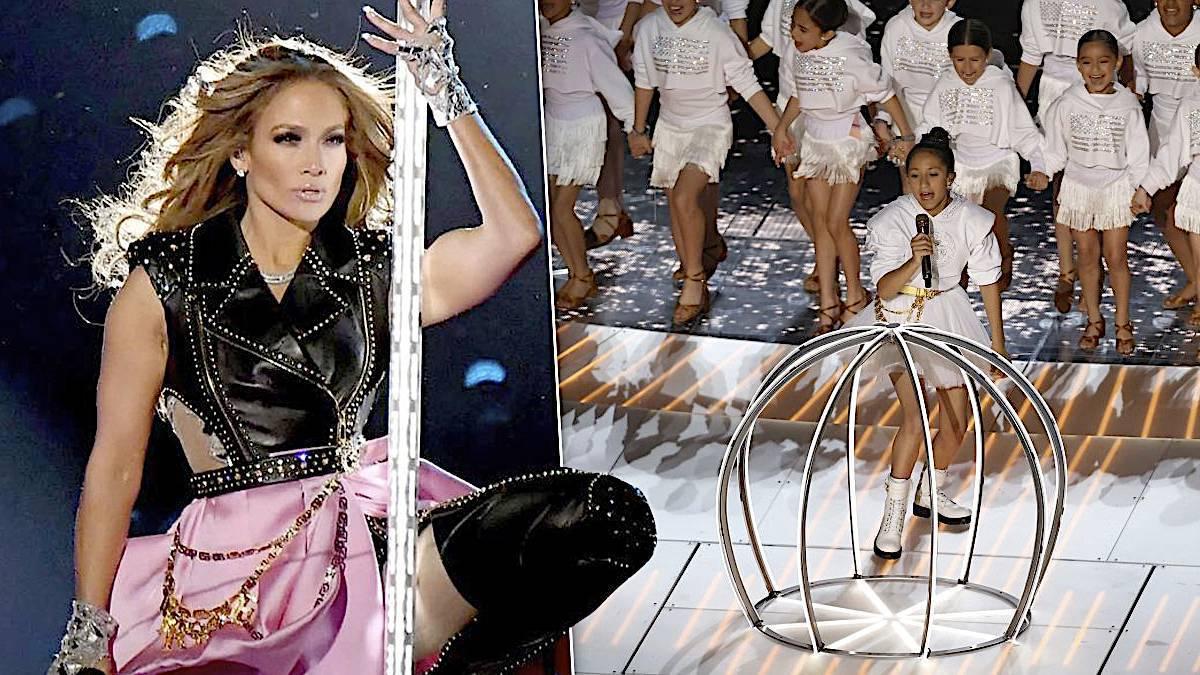 Jennifer Lopez, dzieci w klatkach na Super Bowl