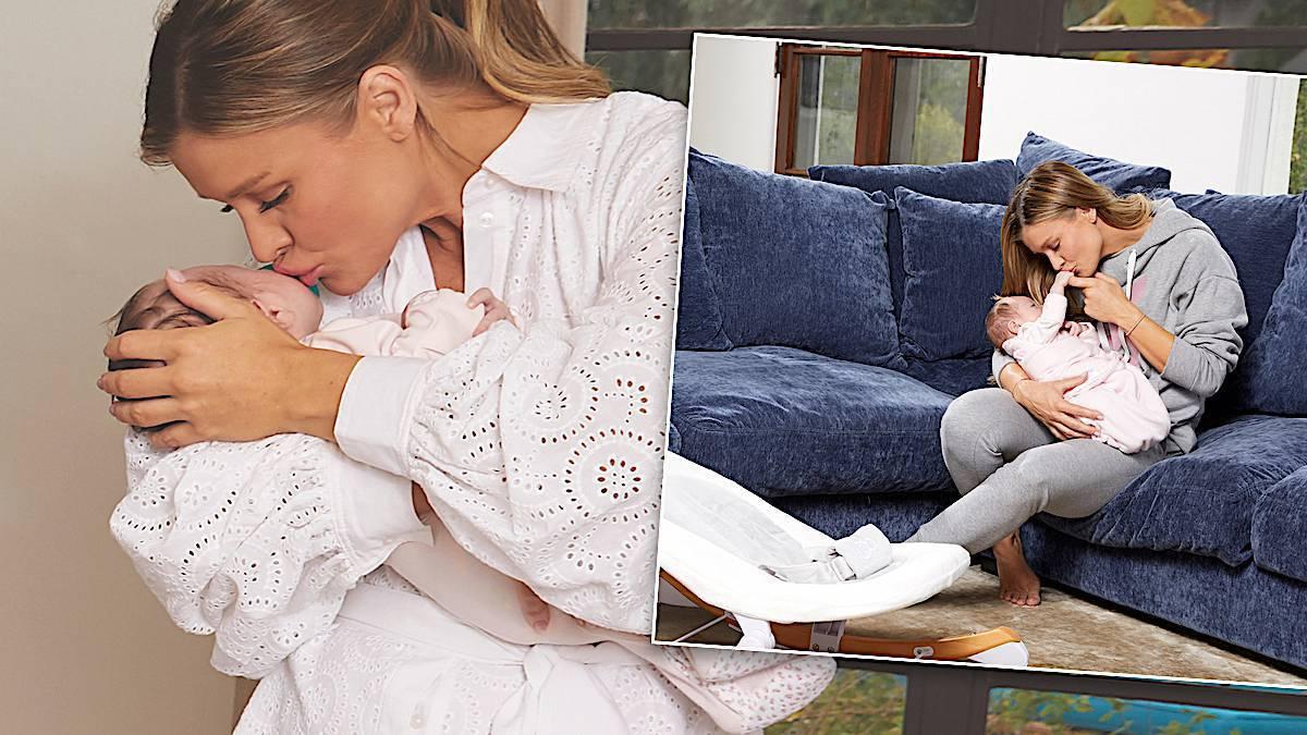 Joanna Krupa z córką Ashą – sesja w domu