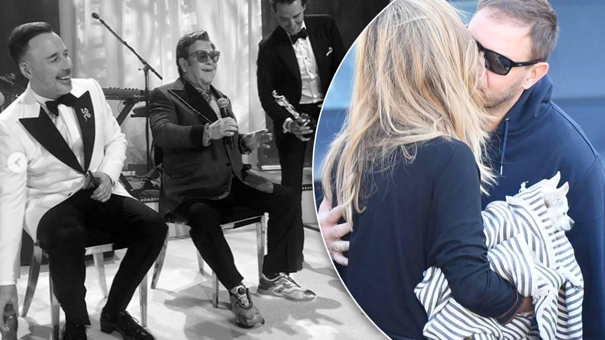 Dziun na afterparty u Eltona Johna