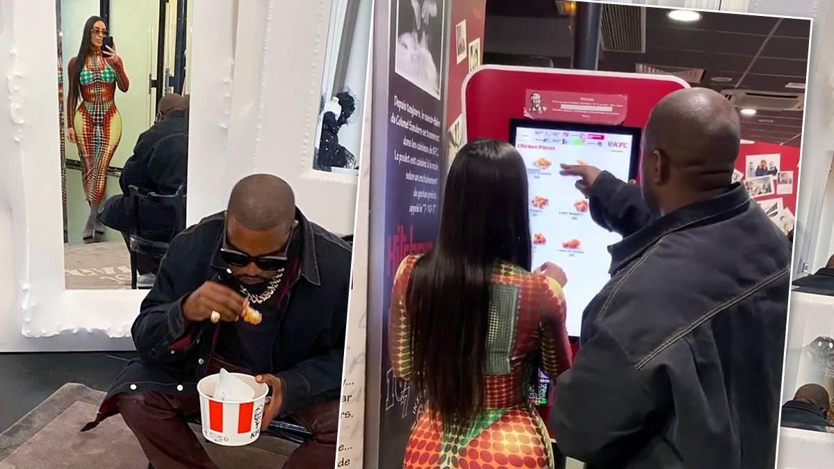Kim Kardashian i Kanye West w KFC