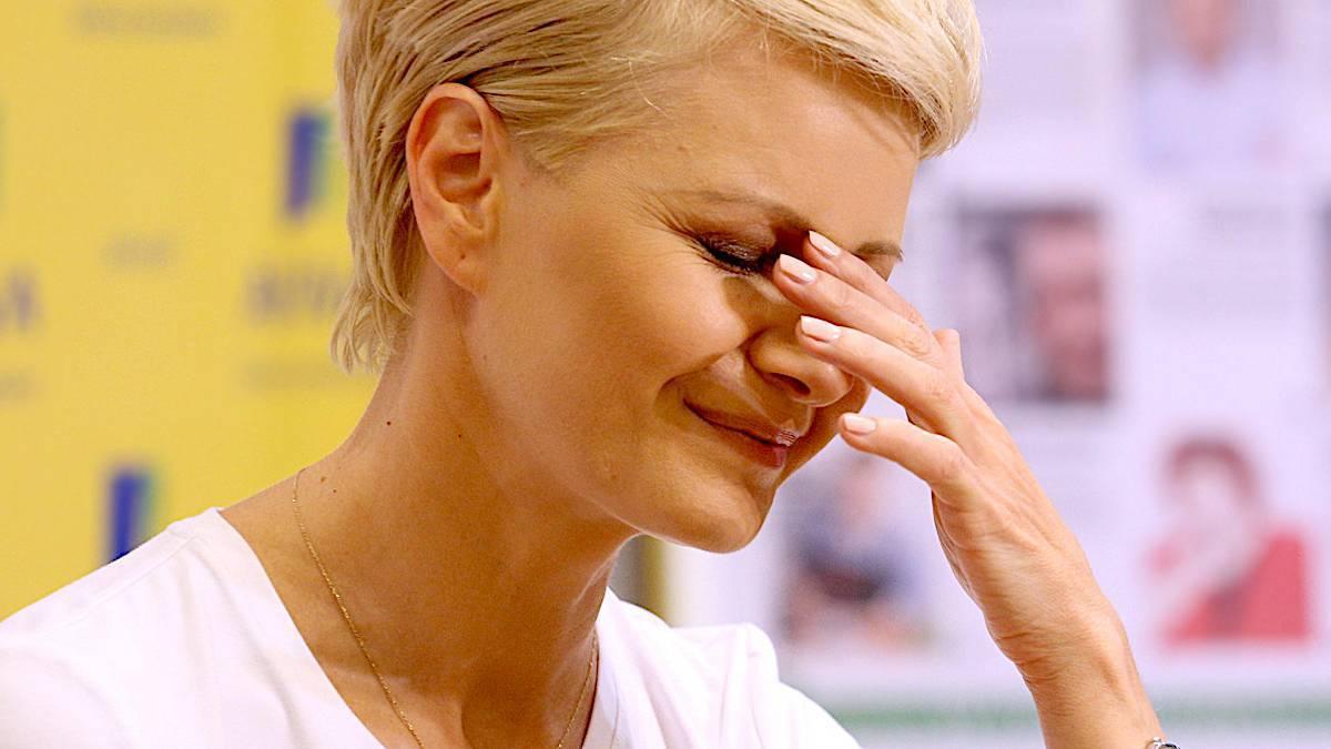 Małgorzata Kożuchowska smutna