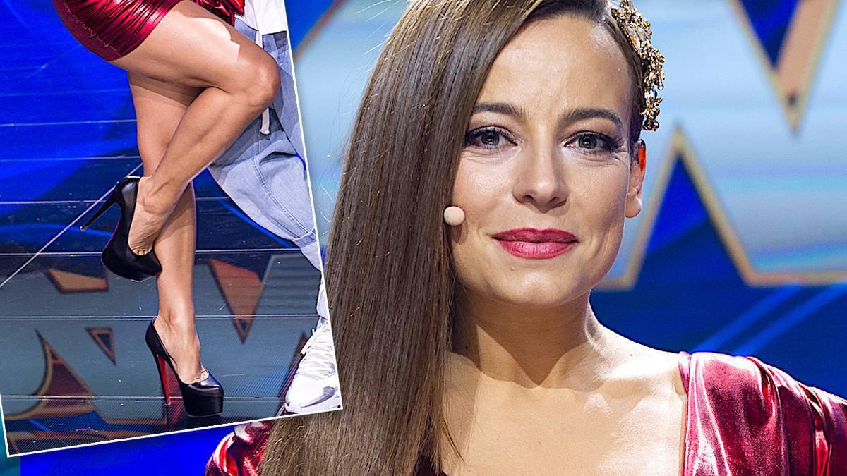 Anna Mucha w czerwonej sukience w Dance Dance Dance
