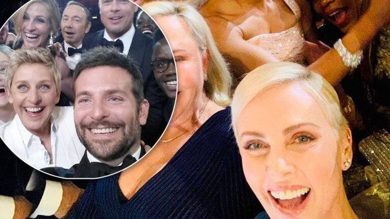 Oscary 2020 – selfie Charlize Theron